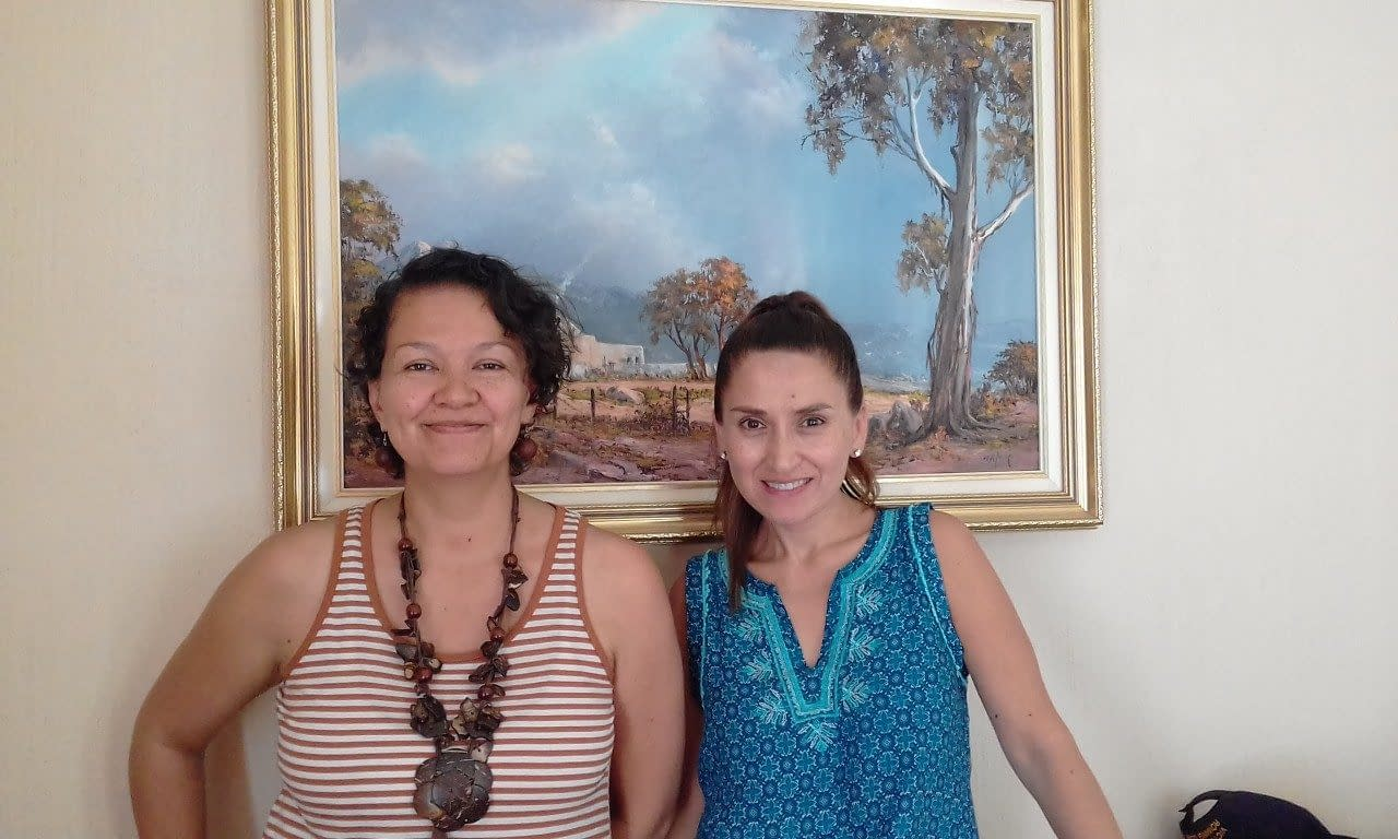 Vianey Varela (Vi) and Monica Munoz (L to R) attended 'WordPress Refresher Training'