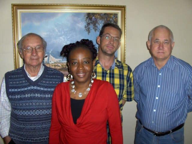 Fernando, Mwangie, Danie and Stuart (L to R) - Create FREE Website-Create and Publish a WordPress Website