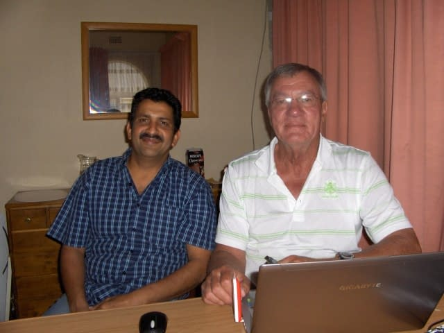 Shair and Dr. Koot (L to R)- Create FREE Website-Create and Publish a WordPress Website