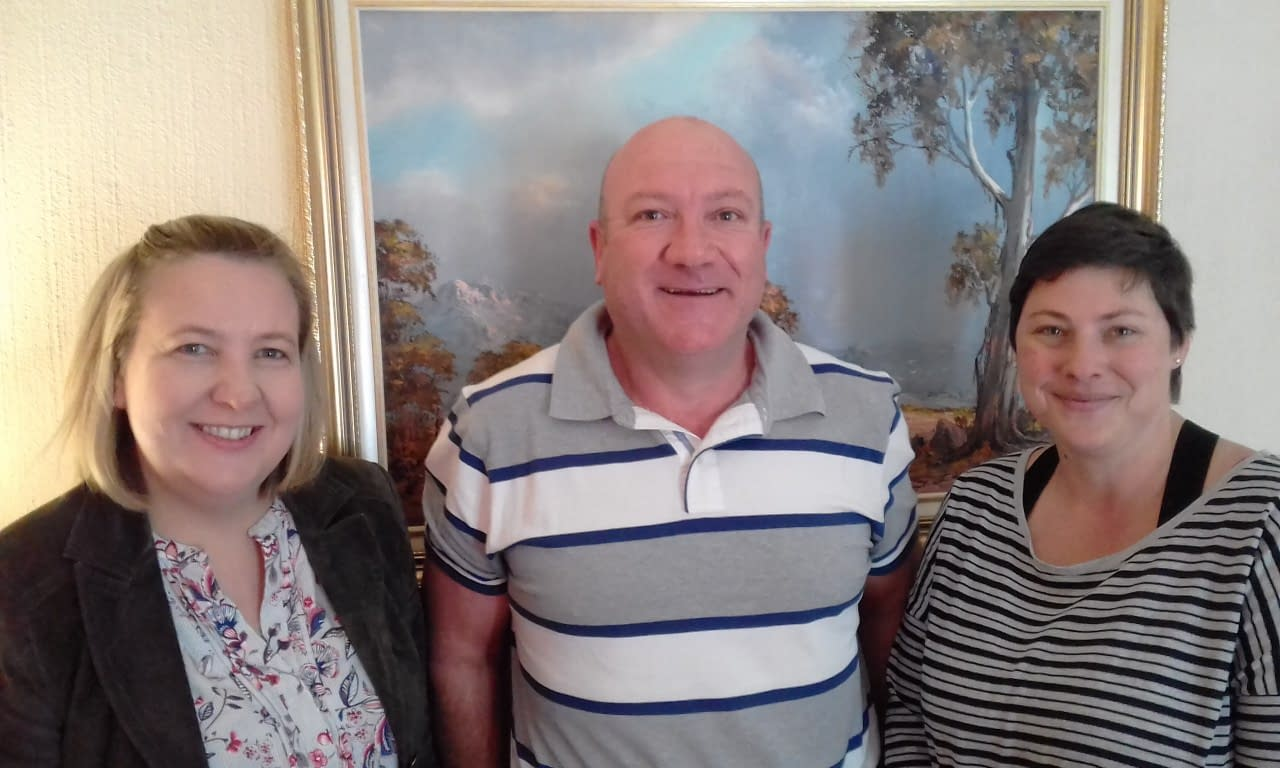 Penny Harris, Steven Bilger and Janine West-Evans (L to R) attended Create Free Website