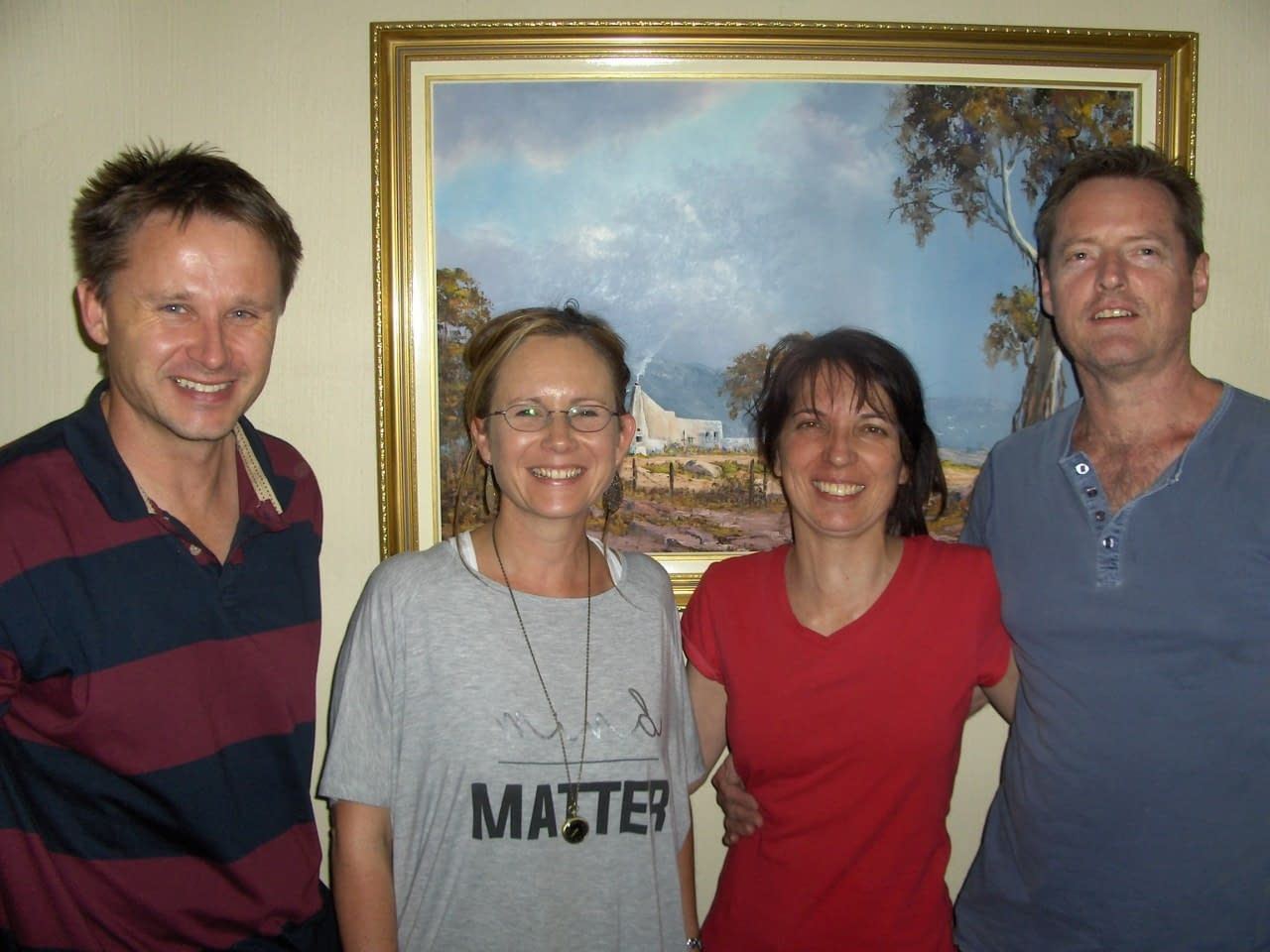 Kobus, Su, Angela and Niel (L to R)-Create and Publish a WordPress Website