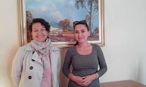 Vianey Varela and Monica Munoz (L to R) attended 'Create Beautiful Websites Fast - The Best FREE Page Builder for WordPress'