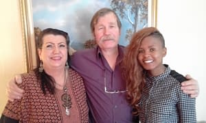 Marion Duncan, Joseph Fink and Lerato Lebusho (L to R) attended 'Create Free Website'