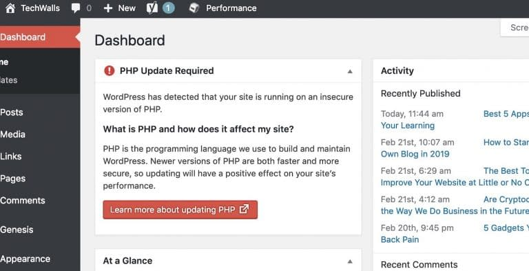 How to Update PHP For Your WordPress Website