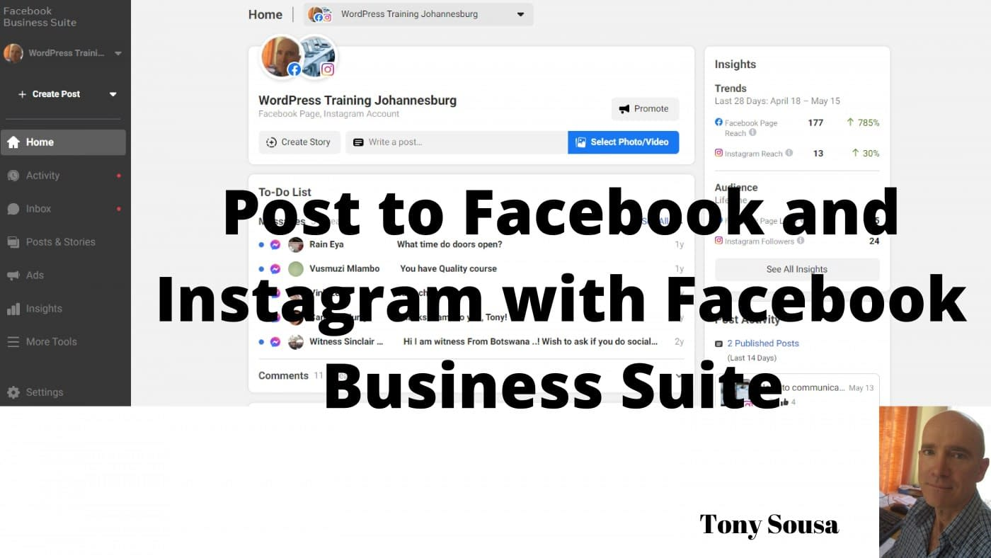 Post to Facebook and Instagram with Facebook Business Suite